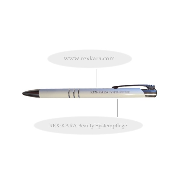 Kugelschreiber Metall REX-KARA Weiß